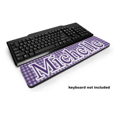 Gingham Print Keyboard Wrist Rest (Personalized)