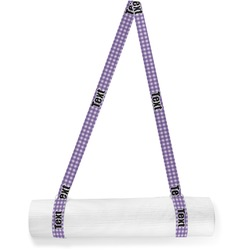 Gingham Print Yoga Mat Strap (Personalized)
