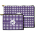 Gingham Print Zipper Pouch (Personalized)