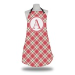 Red & Tan Plaid Apron (Personalized)