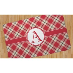 Red & Tan Plaid Area Rug (Personalized)