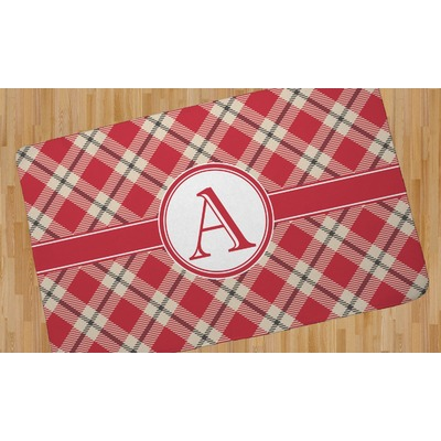 Red Amp Tan Plaid Area Rug Personalized Youcustomizeit