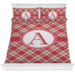 Red & Tan Plaid Comforters (Personalized)