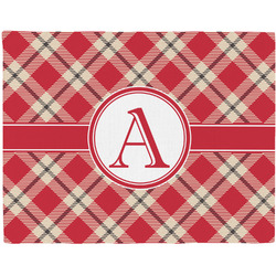 Red & Tan Plaid Placemat (Fabric) (Personalized)