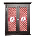 Red & Tan Plaid Cabinet Decal - Custom Size (Personalized)