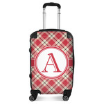 Red & Tan Plaid Suitcase (Personalized)