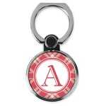 Red & Tan Plaid Cell Phone Ring Stand & Holder (Personalized)