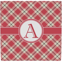 Red & Tan Plaid Ceramic Tile Hot Pad (Personalized)