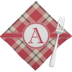 Red & Tan Plaid Napkins (Set of 4) (Personalized)