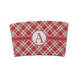 Red & Tan Plaid Coffee Cup Sleeve (Personalized)