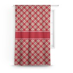 Red & Tan Plaid Curtain (Personalized)
