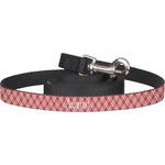 Red & Tan Plaid Dog Leash (Personalized)