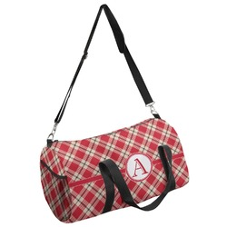 Red & Tan Plaid Duffel Bag - Multiple Sizes (Personalized)