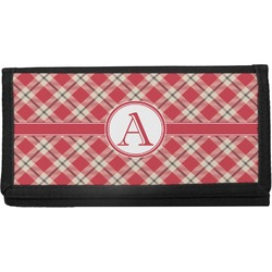 Red & Tan Plaid Checkbook Cover (Personalized)