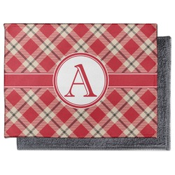Red & Tan Plaid Microfiber Screen Cleaner (Personalized)