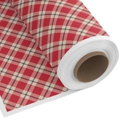 Red & Tan Plaid Custom Fabric - PIMA Combed Cotton (Personalized)