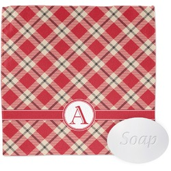 Red & Tan Plaid Wash Cloth (Personalized)