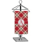 Red & Tan Plaid Finger Tip Towel - Full Print (Personalized)
