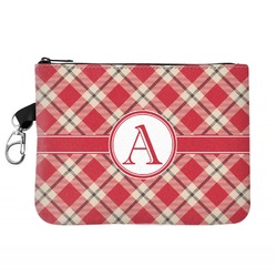 Red & Tan Plaid Golf Accessories Bag (Personalized)