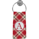 Red & Tan Plaid Hand Towel - Full Print (Personalized)