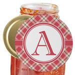 Red & Tan Plaid Jar Opener (Personalized)