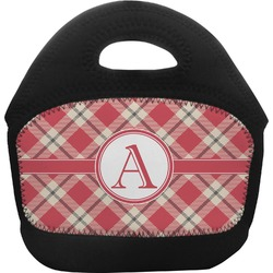 Red & Tan Plaid Toddler Lunch Tote (Personalized)