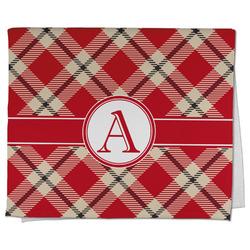 Red & Tan Plaid Kitchen Towel - Full Print (Personalized)