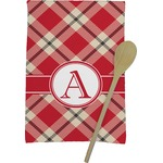 Red & Tan Plaid Kitchen Towel - Full Print (Personalized)