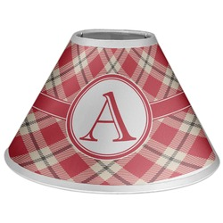 Red & Tan Plaid Coolie Lamp Shade (Personalized)
