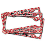 Red & Tan Plaid License Plate Frame (Personalized)