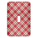 Red & Tan Plaid Light Switch Covers (Personalized)
