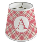 Red & Tan Plaid Empire Lamp Shade (Personalized)