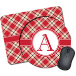 Red & Tan Plaid Mouse Pads (Personalized)