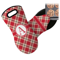 Red & Tan Plaid Neoprene Oven Mitt (Personalized)