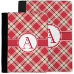 Red & Tan Plaid Notebook Padfolio w/ Initial
