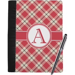 Red & Tan Plaid Notebook Padfolio (Personalized)
