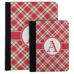 Red & Tan Plaid Padfolio Clipboard (Personalized)