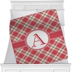 Red & Tan Plaid Minky Blanket (Personalized)