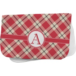 Red & Tan Plaid Burp Cloth (Personalized)