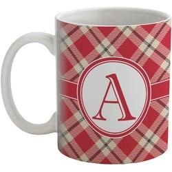 Red & Tan Plaid Coffee Mug (Personalized)