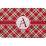 Red & Tan Plaid Comfort Mat (Personalized)
