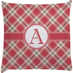Red & Tan Plaid Euro Sham Pillow Case (Personalized)