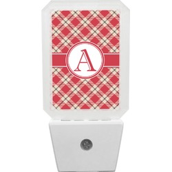 Red & Tan Plaid Night Light (Personalized)