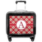Red & Tan Plaid Pilot / Flight Suitcase (Personalized)