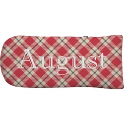 Red & Tan Plaid Putter Cover (Personalized)