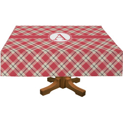 Red & Tan Plaid Tablecloth (Personalized)