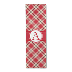 Red & Tan Plaid Runner Rug - 3.66'x8' (Personalized)