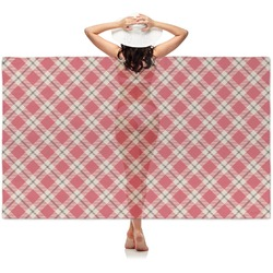 Red & Tan Plaid Sheer Sarong (Personalized)