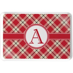 Red & Tan Plaid Serving Tray (Personalized)