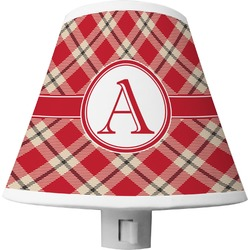 Red & Tan Plaid Shade Night Light (Personalized)